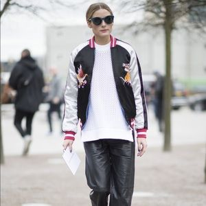 Topshop Embroidered Bomber